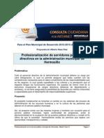 Para Plan Municipal de Desarrollo Hermosillo 2012-2015