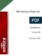 Enfora Check List
