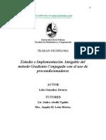 Estudio e Implementacion Amigable Delmetodo Gradiente