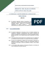 Reglamento Elcciones Municipales 2012 Inicial
