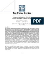 Urban Institute And Urban-Brookings Tax Policy Center  --  Toppling Off The Fiscal Cliff