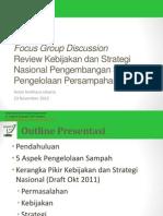 Review Kebijakan dan Strategi Nasional Pengembangan Sistem Pengelolaan Persampahan