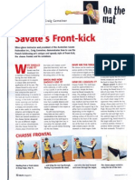 Savate's Front Kick