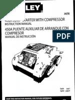 Stanley 450A Jump-Starter with Compressor Manual, J45TK
