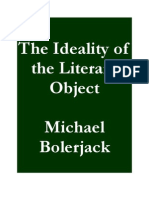 The Ideality of the Literary Object