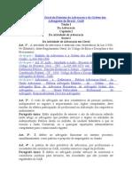 Regulamento Geral Do Estatuto Da Advocacia e Da Ordem Dos Advogados Do Brasil
