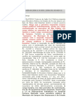 SENTENÇA MONOCRÁTICA DO JUIZ DE 1ª INSTÂNCIA DA COMARCA DE SÃO FIDÉLIS