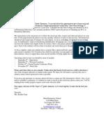 EDU 208 - Parent Welcome Letter