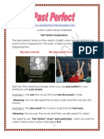 Past Perfect Simple Explanation and Worksheet