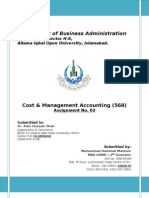 Assignment 2nd_568_Cost Management Accounting