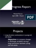T32 Progress Report