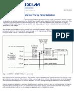 CCFL Transformer Turns Ratio Selection (AN3375)