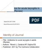 Antibiotics for Acute Laryngitis in Adults (Review)