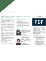 Brochure Angoisse Phobies