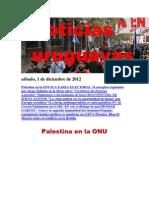 Noticias Uruguayas sábado 1 de diciembre del 2012