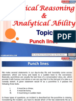 Logical Reasoning Analytical Ability Punchlines