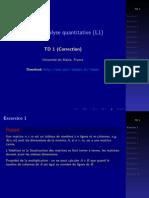 Analyse quantitative TD1