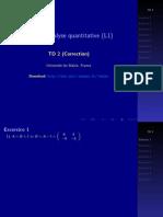 Analyse quantitative TD2