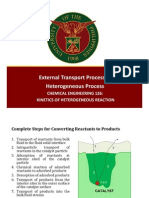 External Transport Process in Heterogeous Reactions