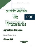 Extractos vegetales como Fitosanitarios