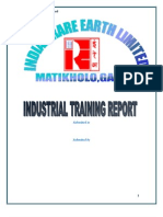 Summer Training Report for Indian Rare Earth Limited Oscom
