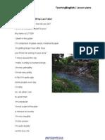 Litter Poem Worksheets
