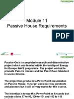 Module 11 - PassiveHouse