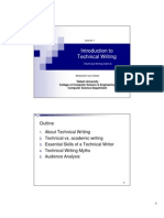 Introduction to Technical Writing (Technical Writing CS212)