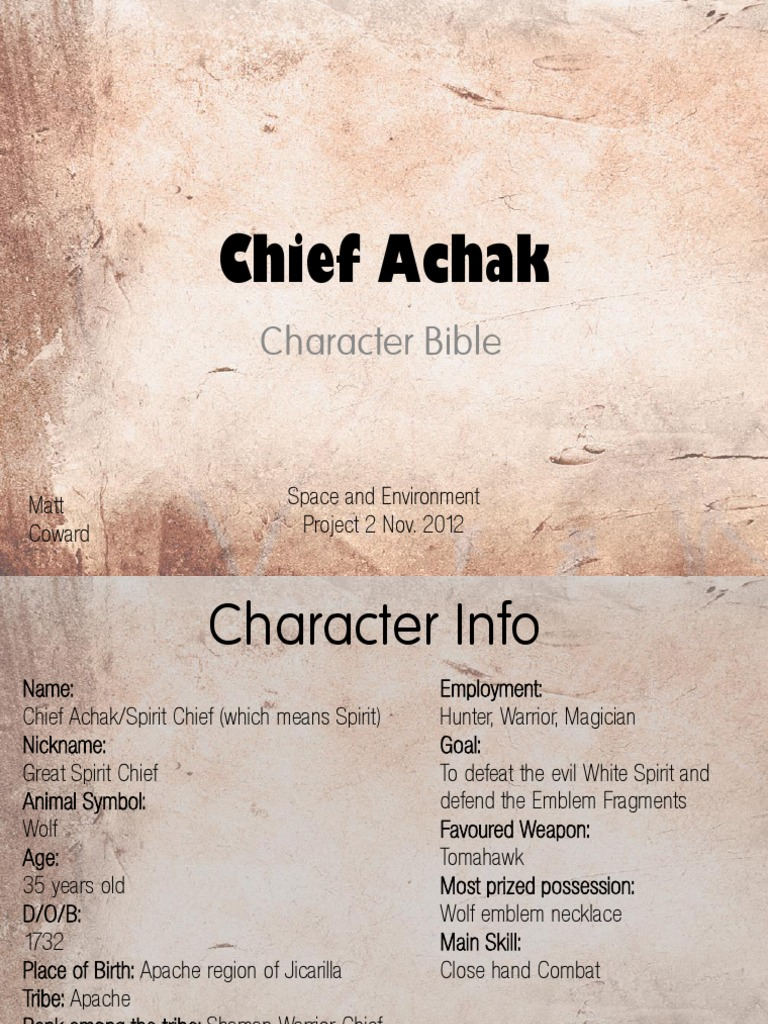 Character Bible Shamanism Apache