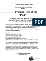 the Present Uses of the Past