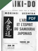 37667293 Aikido Tadashi Abe L Arme Et l Esprit Du Samourai Japonais 1958.