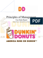 MGT Group Case Study Report (Dunkin Donuts)