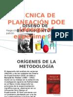DISEÑO DE EX`PERIMENTOS (DOE)