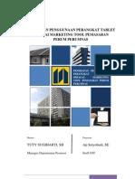 Strategic Task Pemanfaatan Tablet Sebagai Marketing Tool Perum Perumnas