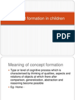 Concept Formation in Children