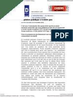 L'opinion publique - Pierre Bourdieu