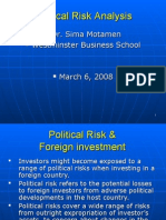 Political Risk Analysis