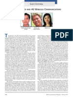 Lte-Advanced and 4g Wireless Communications Guest Editorial 2012