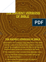 Codex, The Ancient Versions of Bible, Gospel