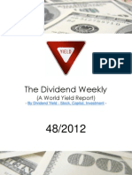 Dividend Weekly Stock Report 47/2012 | Free Download Book By http://long-term-investments.blogspot.com