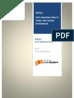 Modül4-1 Veri Tabanına Giriş ve Temel Veri tabanı Kavramları