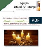 Evangelios y comentarios de Diciembre 2012. Adviento. Ciclo C
