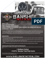 Los Angeles Police Department (LAPD) Approved Gear- Banshee Plate Carrier- Shellback Tactical Inc.