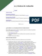 Instrumentos y técnicas de evaluación