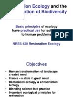 23B Restoration Ecology 2009