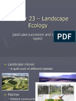 Chapter 23 – Landscape Ecology and lake succession