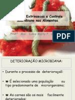 Fatores Extrinsecos e Controle Microbiano Nos Alimentos
