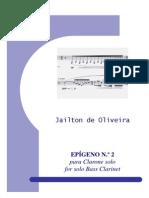 Epígeno No.2 for Bass clarinet