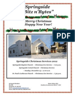Springside Bitzn'Bytes Winter/Christmas Issue 2012