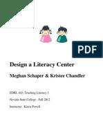 EDRL442 Fall2012 MeghanSchaper LiteracyCenter(Kristee)